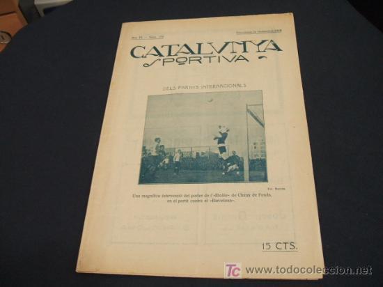CATALUNYA SPORTIVA - ANY IV - NUM. 158 - 24 DESEMBRE 1919 (Coleccionismo Deportivo - Revistas y Periódicos - Catalunya Sportiva)