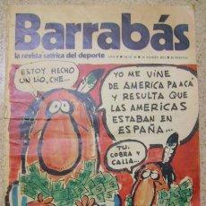 Coleccionismo deportivo: REVISTA BARRABAS - REVISTA SATIRICA DEL DEPORTE ESPAÑA ES JAUJA Nº 46. Lote 231858850