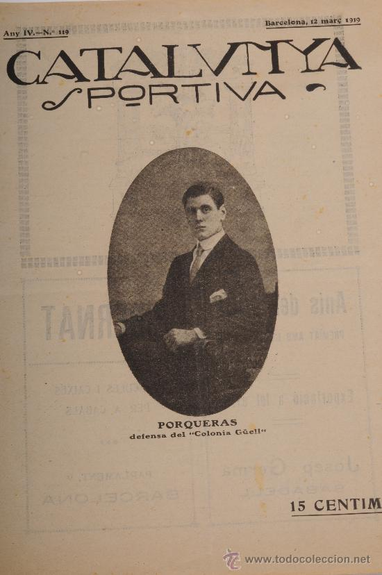 REVISTA CATALUNYA SPORTIVA AÑO IV Nº 119 BARCELONA 12 DE MARZO DE 1919 (Coleccionismo Deportivo - Revistas y Periódicos - Catalunya Sportiva)
