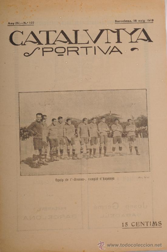 REVISTA CATALUNYA SPORTIVA. AÑO IV Nº 127. BARCELONA 28 DE MAYO DE 1919 (Coleccionismo Deportivo - Revistas y Periódicos - Catalunya Sportiva)