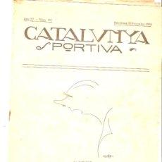 Collectionnisme sportif: REVISTA CATALUNYA DEPORTIVA 19 NOVIEMBRE 1919 Nº 153. Lote 26239148