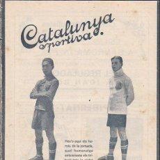 Collectionnisme sportif: REVISTA CATALUNYA SPORTIVA Nº 252 18-10-1921. Lote 30535142