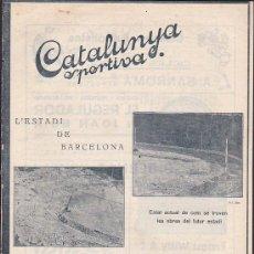 Collectionnisme sportif: REVISTA CATALUNYA SPORTIVA Nº 257 22-11-1921. Lote 30535153