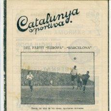 Collectionnisme sportif: REVISTA CATALUNYA ESPORTIVA Nº260 13 DICIEMBRE 1921. Lote 32227438