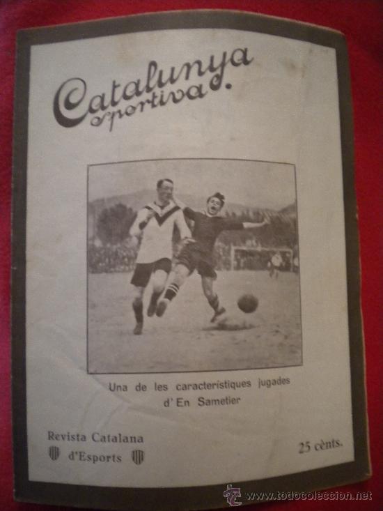 CATALUNYA SPORTIVA , 20-9-1921 SAMITIER. (Coleccionismo Deportivo - Revistas y Periódicos - Catalunya Sportiva)