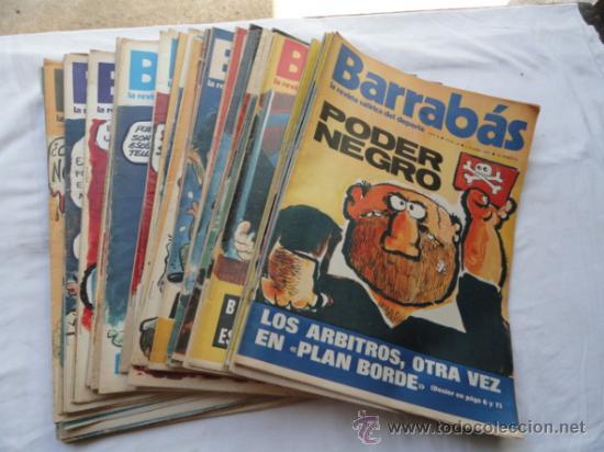 52 EJEMPLARES DE LA REVISTA - BARRABÁS-. AÑO 1973. (Coleccionismo Deportivo - Revistas y Periódicos - Barrabás)