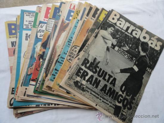 52 EJEMPLARES DE LA REVISTA - BARRABÁS-. AÑO 1975. (Coleccionismo Deportivo - Revistas y Periódicos - Barrabás)