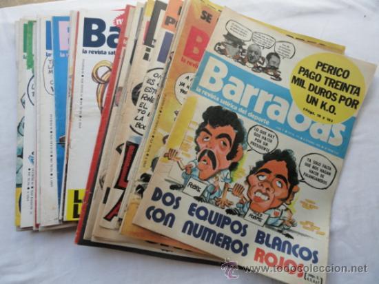 50 EJEMPLARES DE LA REVISTA - BARRABÁS-. AÑO 1976. (Coleccionismo Deportivo - Revistas y Periódicos - Barrabás)
