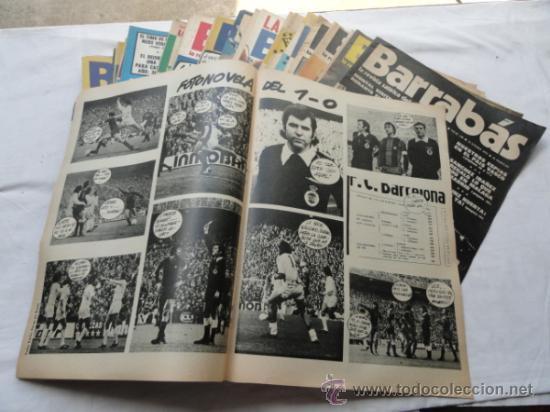 Coleccionismo deportivo: 52 EJEMPLARES DE LA REVISTA - BARRABÁS-. AÑO 1975. - Foto 2 - 37399727