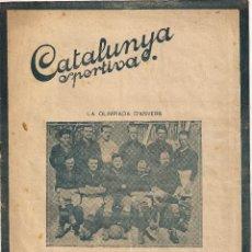 Collectionnisme sportif: CATALUNYA SPORTIVA - LA OLIMPIADA D`ANVERS .. Lote 42584959