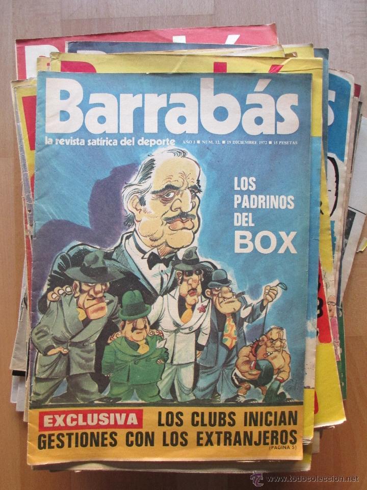 LOTE 66 REVISTAS BARRABAS, AÑOS 70, REVISTA DEPORTIVA, DEPORTES, FUTBOL, (Coleccionismo Deportivo - Revistas y Periódicos - Barrabás)
