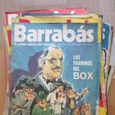 Coleccionismo deportivo: LOTE 66 REVISTAS BARRABAS, AÑOS 70, REVISTA DEPORTIVA, DEPORTES, FUTBOL,. Lote 43541372