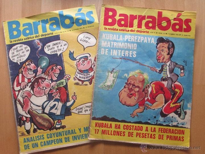 Coleccionismo deportivo: LOTE 66 REVISTAS BARRABAS, AÑOS 70, REVISTA DEPORTIVA, DEPORTES, FUTBOL, - Foto 2 - 43541372
