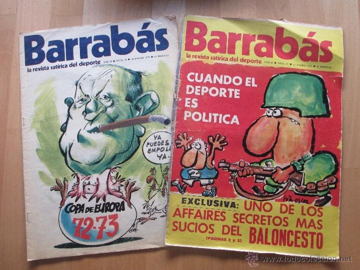 Coleccionismo deportivo: LOTE 66 REVISTAS BARRABAS, AÑOS 70, REVISTA DEPORTIVA, DEPORTES, FUTBOL, - Foto 3 - 43541372