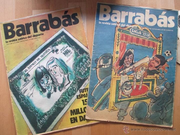 Coleccionismo deportivo: LOTE 66 REVISTAS BARRABAS, AÑOS 70, REVISTA DEPORTIVA, DEPORTES, FUTBOL, - Foto 5 - 43541372