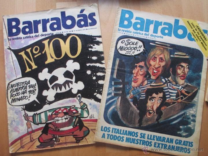 Coleccionismo deportivo: LOTE 66 REVISTAS BARRABAS, AÑOS 70, REVISTA DEPORTIVA, DEPORTES, FUTBOL, - Foto 7 - 43541372