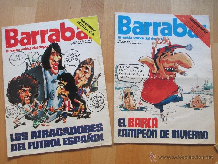 Coleccionismo deportivo: LOTE 66 REVISTAS BARRABAS, AÑOS 70, REVISTA DEPORTIVA, DEPORTES, FUTBOL, - Foto 8 - 43541372