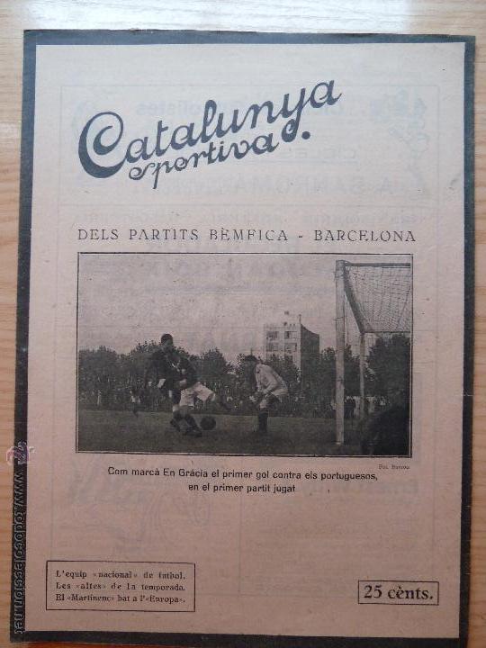 REVISTA FUTBOL CATALUNYA SPORTIVA Nº 250 4 OCTUBRE 1921 PORTADA DEL PARTITS BEMFICA - BARCELONA (Coleccionismo Deportivo - Revistas y Periódicos - Catalunya Sportiva)