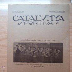 Collectionnisme sportif: REVISTA FUTBOL CATALUNYA SPORTIVA Nº 155 3 DECEMBRE 1919. Lote 43824211