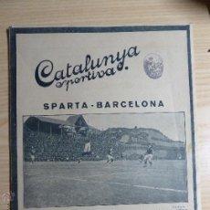 Collezionismo sportivo: REVISTA FUTBOL CATALUNYA SPORTIVA Nº 262 28 DESEMBRE 1921 BARCELONA 2 - SPARTA PRAGA 0. Lote 43831179