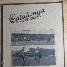 Colecionismo desportivo: REVISTA FUTBOL CATALUNYA SPORTIVA Nº 261 20 DESEMBRE 1921 CAMPIONAT DE CATALUNYA SPARTA DE PRAGA. Lote 43831273
