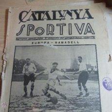 Collectionnisme sportif: REVISTA FUTBOL CATALUNYA SPORTIVA Nº 5 16 OCT 1922 EUROPA SABADELL CAMPIONAT DE FUTBOL BARCELONA BI. Lote 43844435