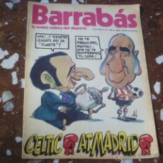 Coleccionismo deportivo: REVISTA SATÍRICA DEL DEPORTE BARRABÁS Nº 81 - AÑO III 1974 - INCLUYE POSTER CENTRAL. Lote 44361409
