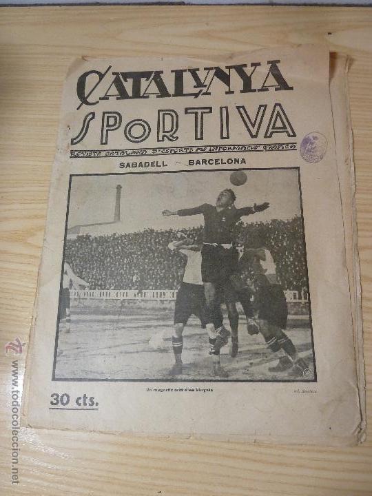 REVISTA FUTBOL CATALUNYA SPORTIVA Nº 12 4 DESEMBRE 1922 (Coleccionismo Deportivo - Revistas y Periódicos - Catalunya Sportiva)
