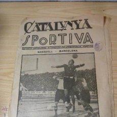 Collezionismo sportivo: REVISTA FUTBOL CATALUNYA SPORTIVA Nº 12 4 DESEMBRE 1922. Lote 45890163