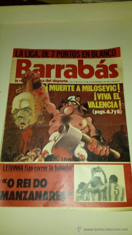 BARRABÁS Nº 157 (AÑO 1975) - BUEN ESTADO (Coleccionismo Deportivo - Revistas y Periódicos - Barrabás)