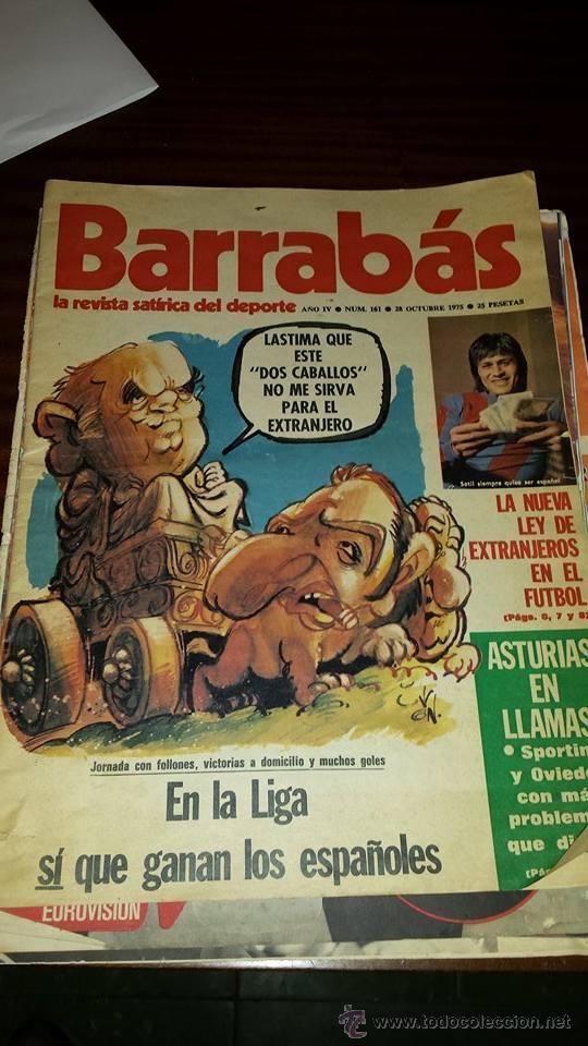 BARRABÁS Nº 161 (AÑO 1975) - BUEN ESTADO (Coleccionismo Deportivo - Revistas y Periódicos - Barrabás)