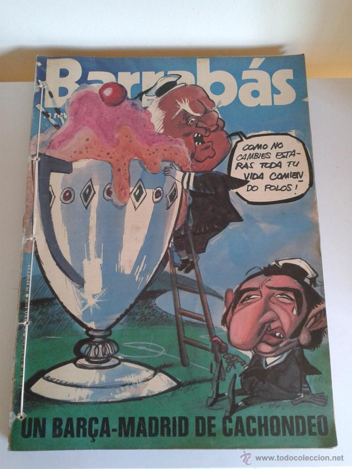 BARRABÁS, LA REVISTA SATÍRICA DEL DEPORTE. COLECCIÓN 26 NÚMEROS. DEL NUM. 136 AL NUM. 162. AÑO 1975 (Coleccionismo Deportivo - Revistas y Periódicos - Barrabás)