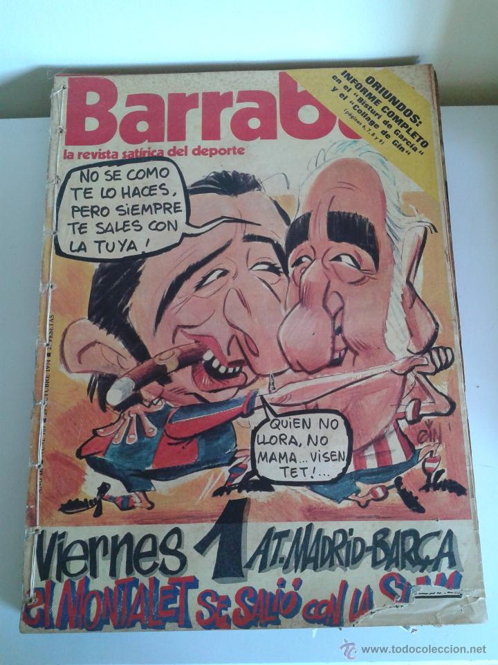 BARRABÁS, LA REVISTA SATÍRICA DEL DEPORTE. COLECCIÓN 26 NÚMEROS. DEL NUM. 109 AL 135. AÑO 1974-75 (Coleccionismo Deportivo - Revistas y Periódicos - Barrabás)