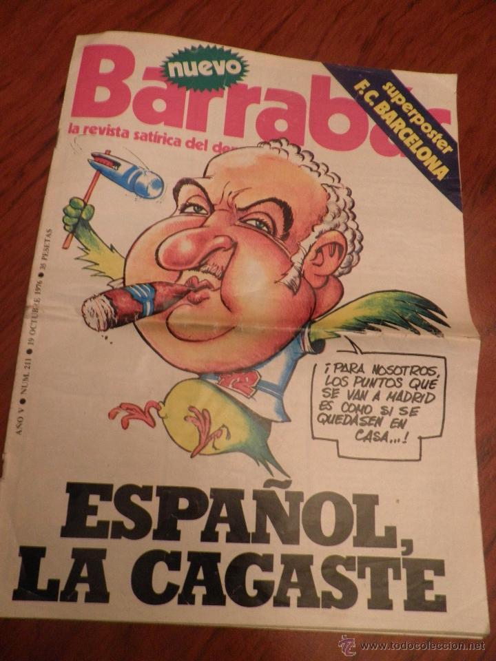 BARRABAS, REVISTA DEPORTIVA Nº 211 OCTUBRE 1976 CON POSTER DEL FC BARCELONA (Coleccionismo Deportivo - Revistas y Periódicos - Barrabás)