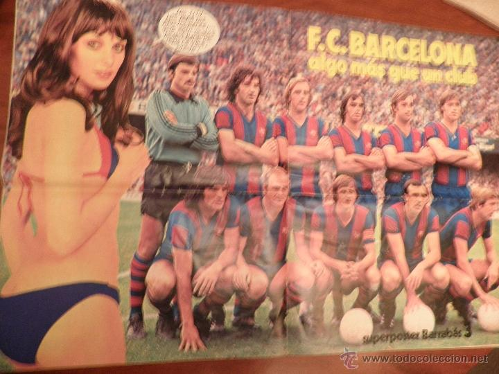 Coleccionismo deportivo: BARRABAS, REVISTA DEPORTIVA Nº 211 OCTUBRE 1976 con poster del FC BARCELONA - Foto 2 - 48937508