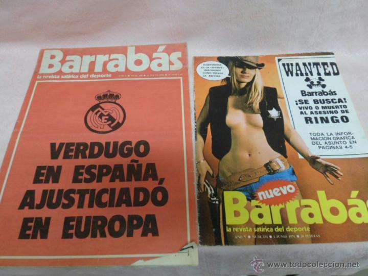 BARRABÁS REVISTA SATÍRICA DEL DEPORTE NUMEROS 189 Y 191 LOTE DE 2 COMICS (Coleccionismo Deportivo - Revistas y Periódicos - Barrabás)