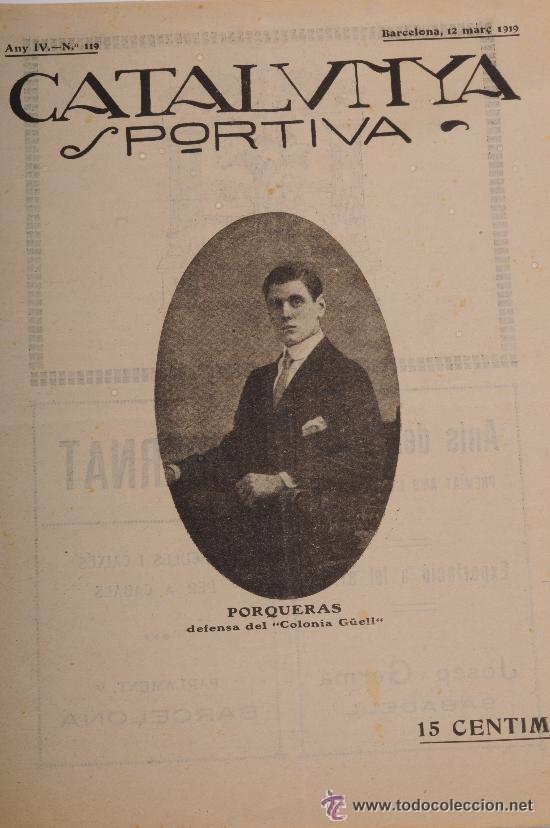 CATALUNYA SPORTIVA (FOOT-BALL). REVISTA Nº 119. BARCELONA. ANY 1919 (Coleccionismo Deportivo - Revistas y Periódicos - Catalunya Sportiva)