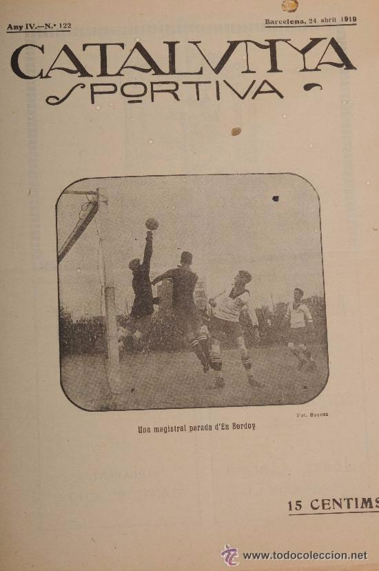 CATALUNYA SPORTIVA (FOOT-BALL). REVISTA Nº 122. BARCELONA. ANY 1919 (Coleccionismo Deportivo - Revistas y Periódicos - Catalunya Sportiva)