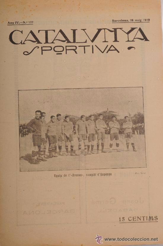 CATALUNYA SPORTIVA (FOOT-BALL). REVISTA Nº 127. BARCELONA. ANY 1919 (Coleccionismo Deportivo - Revistas y Periódicos - Catalunya Sportiva)
