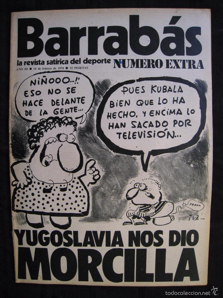 Coleccionismo deportivo: REVISTA - BARRABAS - NUMERO EXTRA - CON POSTER CENTRAL DEL EQUIPO SOÑADO - 1974. - Foto 2 - 56642800