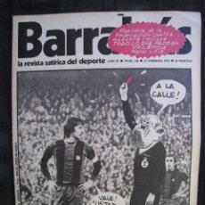Coleccionismo deportivo: REVISTA - BARRABAS - Nº 124 - CRUYFF EN PORTADA - CON POSTER CENTRAL DE CHICA - 1975.. Lote 56746290