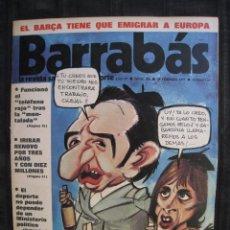 Coleccionismo deportivo: REVISTA - BARRABAS - Nº 125 - CON POSTER CENTRAL DE CHICA - 1975.. Lote 96265576