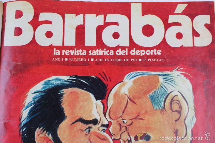 Coleccionismo deportivo: L-3872. REVISTA BARRABÁS ENCUADERNADA. 5 TOMOS. AÑOS 1972 A 1974. DESDE NUMERO 1. - Foto 3 - 57102255