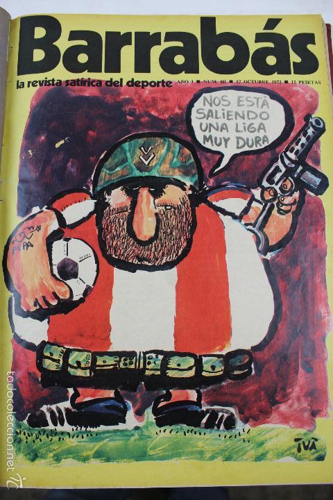 Coleccionismo deportivo: L-3872. REVISTA BARRABÁS ENCUADERNADA. 5 TOMOS. AÑOS 1972 A 1974. DESDE NUMERO 1. - Foto 6 - 57102255