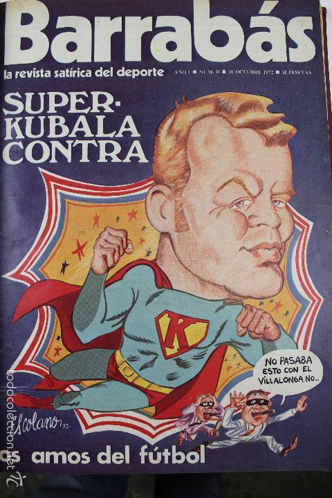 Coleccionismo deportivo: L-3872. REVISTA BARRABÁS ENCUADERNADA. 5 TOMOS. AÑOS 1972 A 1974. DESDE NUMERO 1. - Foto 7 - 57102255