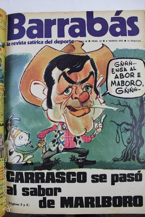 Coleccionismo deportivo: L-3872. REVISTA BARRABÁS ENCUADERNADA. 5 TOMOS. AÑOS 1972 A 1974. DESDE NUMERO 1. - Foto 17 - 57102255