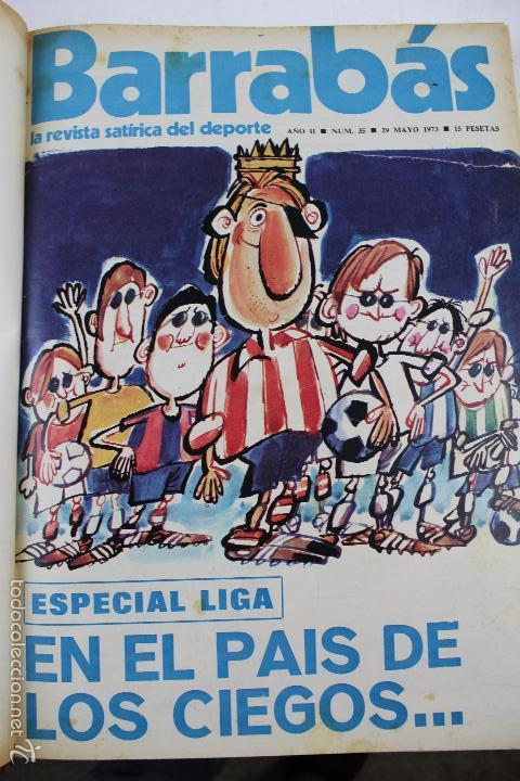 Coleccionismo deportivo: L-3872. REVISTA BARRABÁS ENCUADERNADA. 5 TOMOS. AÑOS 1972 A 1974. DESDE NUMERO 1. - Foto 21 - 57102255