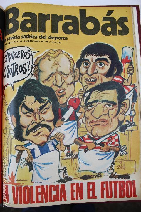 Coleccionismo deportivo: L-3872. REVISTA BARRABÁS ENCUADERNADA. 5 TOMOS. AÑOS 1972 A 1974. DESDE NUMERO 1. - Foto 27 - 57102255
