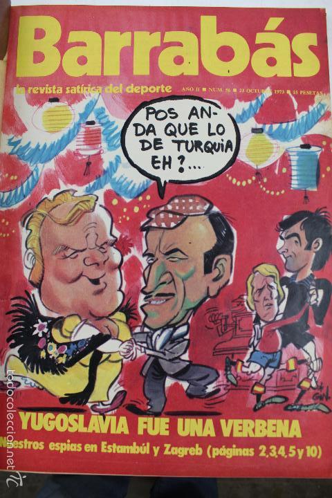 Coleccionismo deportivo: L-3872. REVISTA BARRABÁS ENCUADERNADA. 5 TOMOS. AÑOS 1972 A 1974. DESDE NUMERO 1. - Foto 31 - 57102255