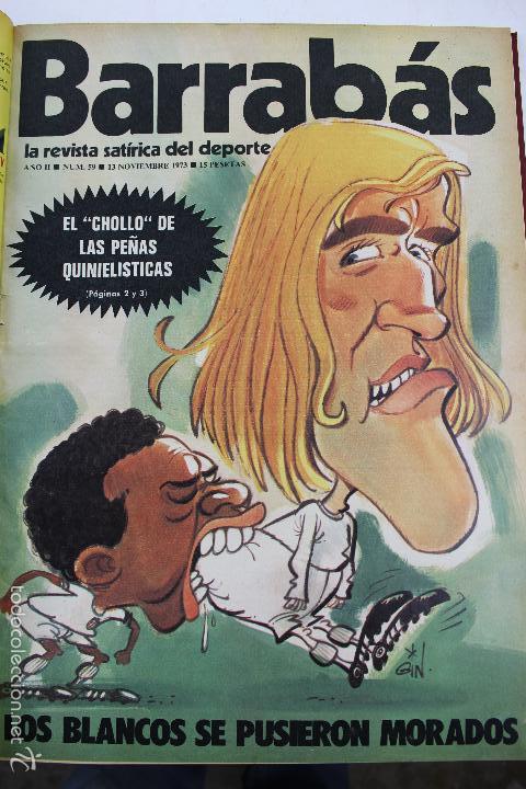 Coleccionismo deportivo: L-3872. REVISTA BARRABÁS ENCUADERNADA. 5 TOMOS. AÑOS 1972 A 1974. DESDE NUMERO 1. - Foto 33 - 57102255